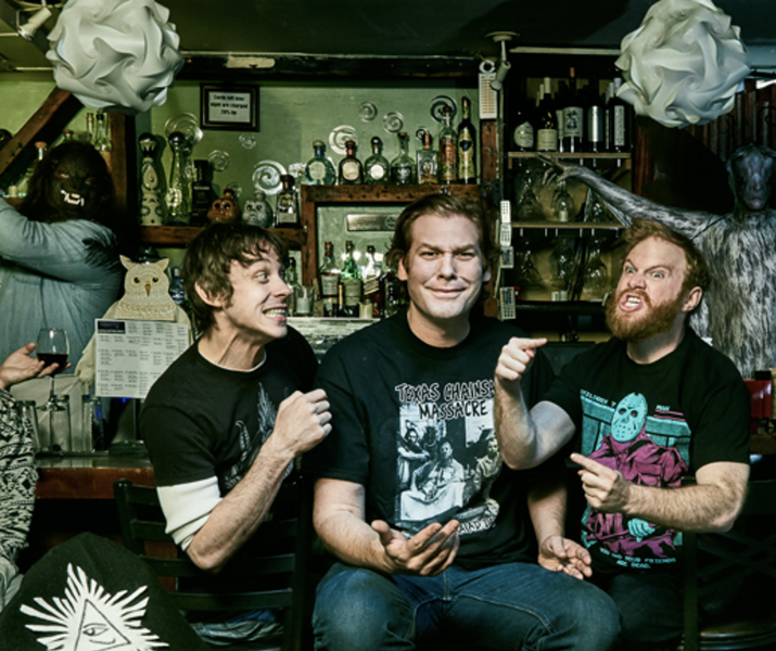 Marcus Parks, Ben Kissel, and Henry Zebrowski. - COURTESY OF LAST PODCAST ON THE LEFT
