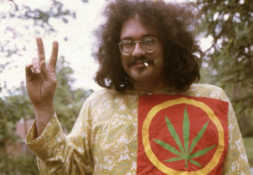 John Sinclair in Ann Arbor in 1968. - LENI SINLCLAIR
