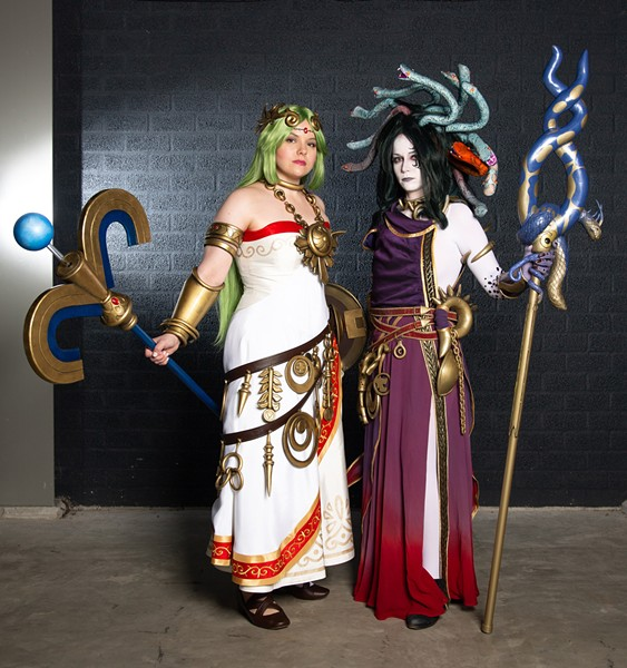 Youmacon, TCF Center and Renaissance Center, Thursday, Oct. 31 through Sunday, Nov. 3. (Pictured: Award-winning cosplay team Sparkle Motion's Sumikins and Rynn Cosplay dressed as Palutena and Medusa from Kid Icarus Uprising.) - KRISTOF NACHTERGAELE