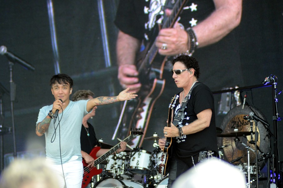 Journey with lead singer Arnel Pineda, who has fronted the band since 2007. - BRUCE ALAN BENNETT / SHUTTERSTOCK.COM
