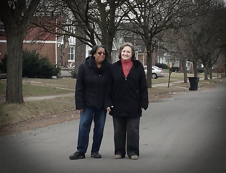 Joyce Cartwright Sims and Rosie Miller on Sorrento, 2017. - JOHN SIMS
