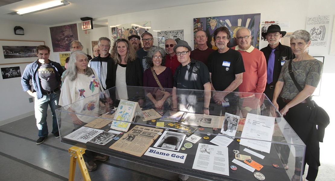 Fifth Estate magazine staff reunion at MOCAD in September. - COURTESY PHOTO