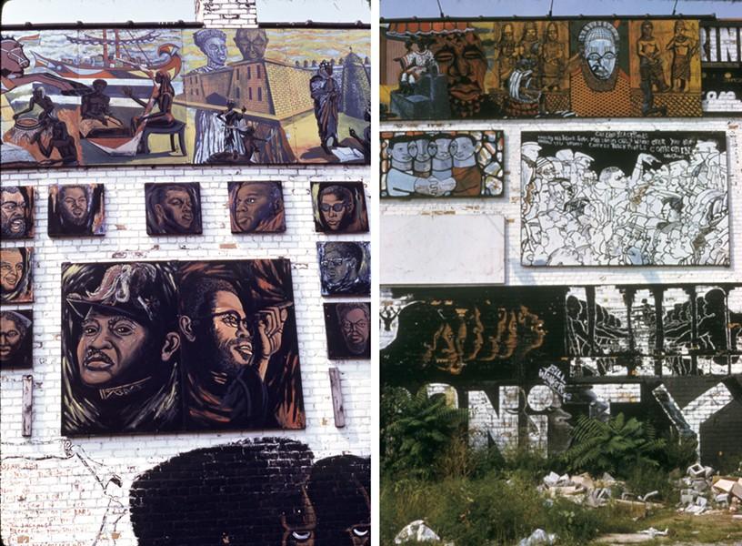 Wall of Dignity details. - JOHN PITMAN WEBER