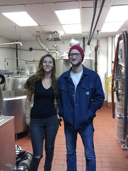 Traffic Jam head brewer Chelsea Piner and assistant brewer Brad Dyer