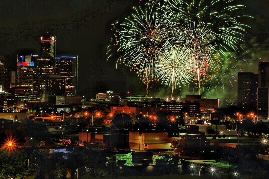 Detroit Fireworks. - KAREN WAMPLER, DETROIT STOCK CITY