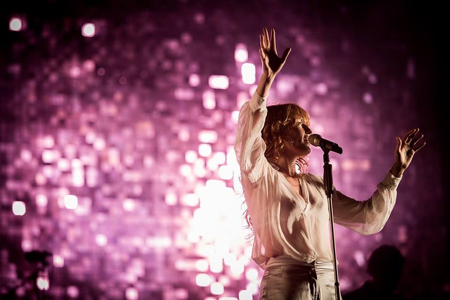 Florence Welch of Florence + the Machine being the true badass witch that she is. - FACEBOOK