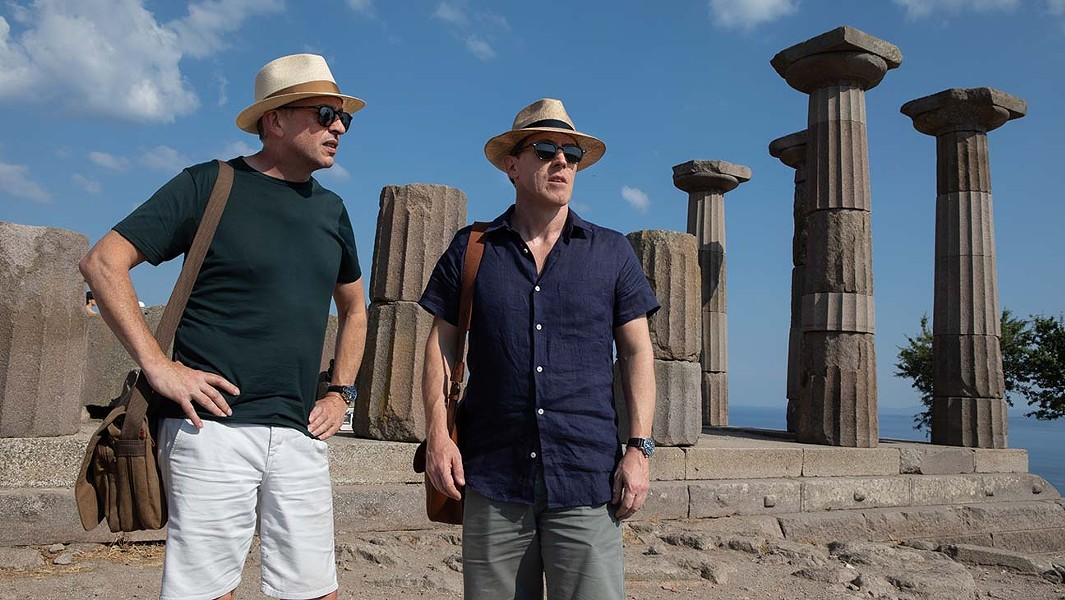 Steve Coogan and Rob Brydon in The Trip to Greece. - ANDY HALL/SKY