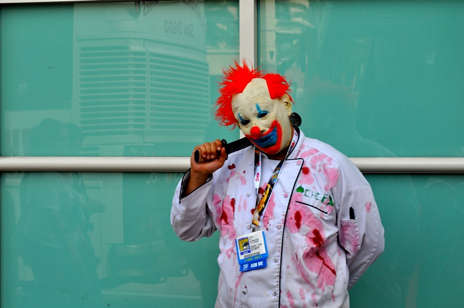 A KILLER CLOWN COSPLAYER. PHOTO VIA WIKIMEDIA.