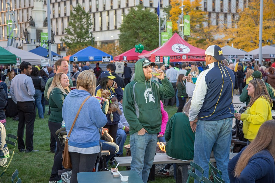The Big Game tailgate in 2015. - PHOTO COURTESY OF THE DOWNTOWN DETROIT PARTNERSHIP