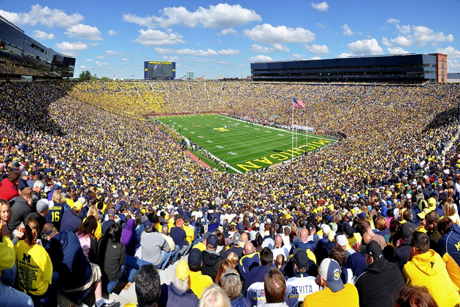 The number of people in the United States who have died from COVID-19 surpassed 112,000 — more than the number of people who could fill Ann Arbor's Michigan Stadium, which has an official capacity of 107,601, making it the largest stadium in the U.S. - ANDREW HORNE, WIKIMEDIA CREATIVE COMMONS