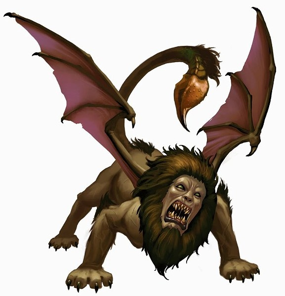 A manticore for comparison. - SCREENSHOT FROM THE DARK WEB.