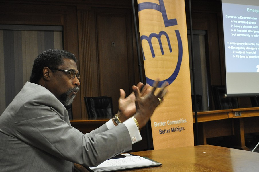 Then-Saginaw City Manager Darnell Earley Speaks at Michigan Municipal League Seminar in Saginaw in 2011. - FLICKR