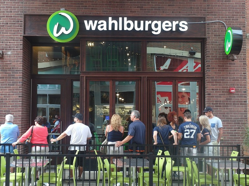 A steady stream of chain restaurants like Wahlburgers have been popping up in and around downtown Detroit this year. - PHOTO BY SERENA MARIA DANIELS