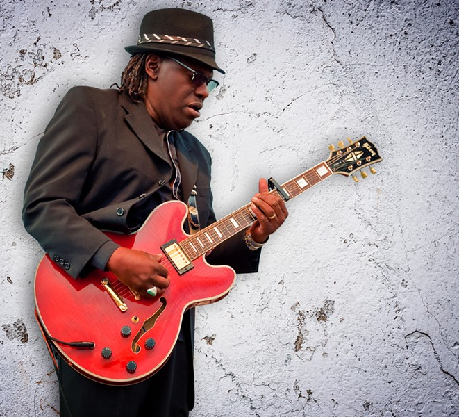 Joe Louis Walker performs at Anti-Freeze Blues Festival. Courtesy photo.