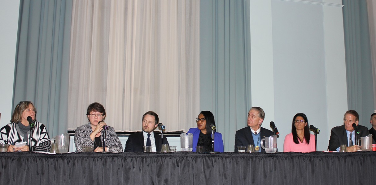 A panel of experts presenting at Flint town hall meeting on Wednesday. - COURTESY PHOTO