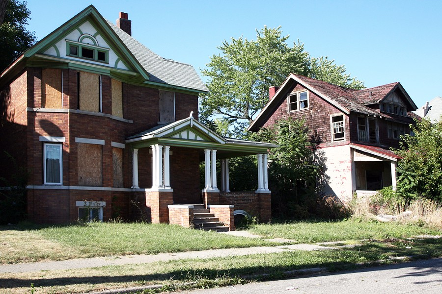 Abandoned homes in Detroit are being torn down at a faster rate due to a Federal grant for demolition. - PHOTO VIA JAMES R. MARTIN / SHUTTERSTOCK.COM