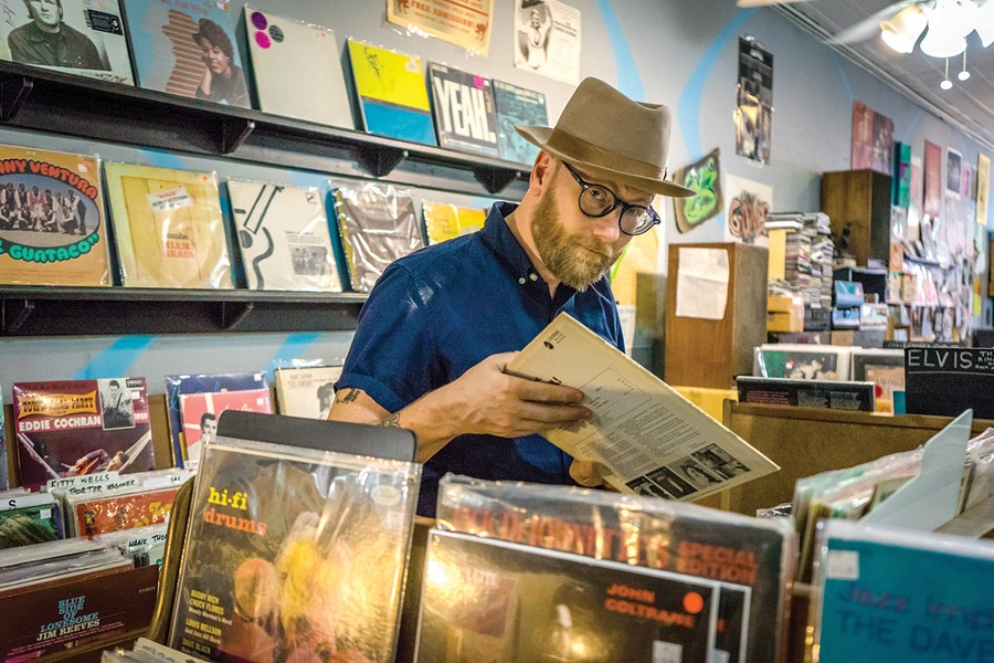 Mike Doughty in Memphis, at the fabulous Goner Records. - COURTESY PHOTO.
