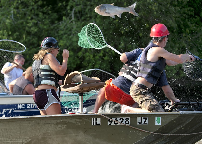 "The ""Redneck Fishing Tournament"" on the Illinois River. - JUDD MCCULLUM"