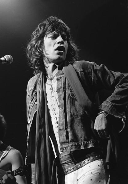 Mick Jagger, as photographed by former Creem magazine editor Charlie Auringer - CHARLIE AURINGER