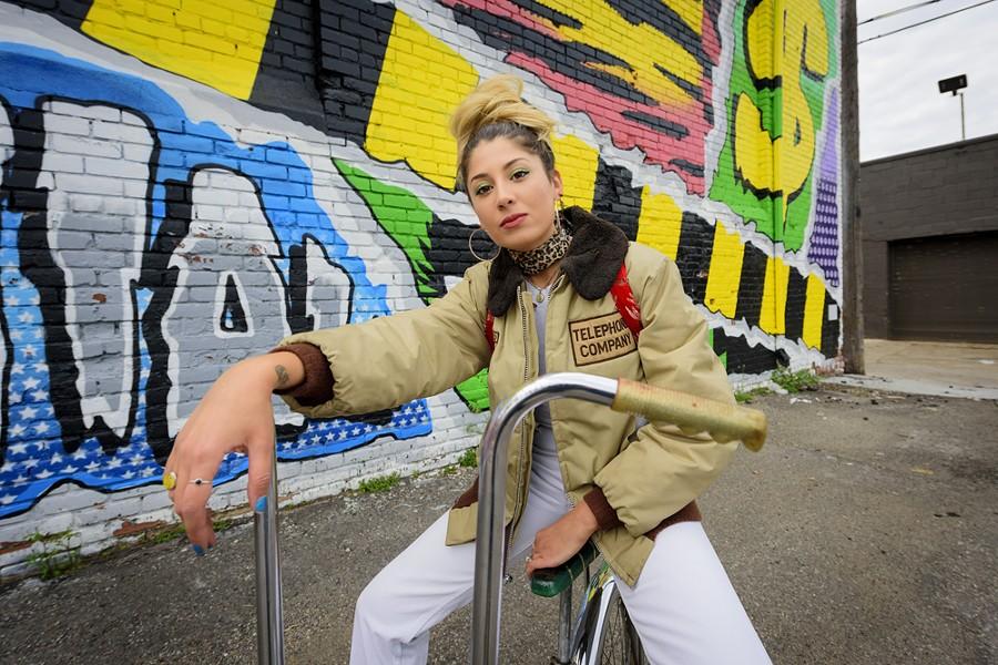 Jessica Hernandez in Detroit. - DOUG COOMBE