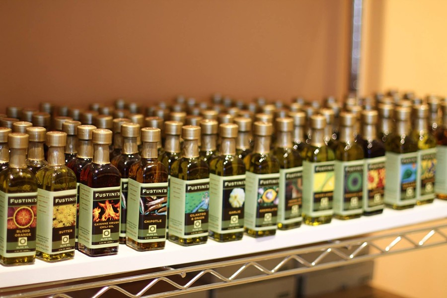 Bottles of olive oil from Fustini's. - COURTESY PHOTO