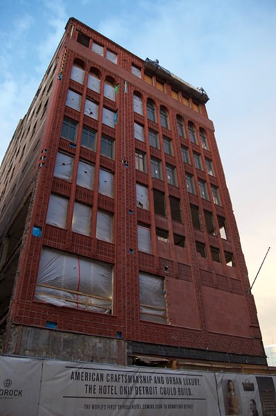 Shinola Hotel construction project on Woodward Ave. - and Grand River Ave. - VIOLET IKONOMOVA