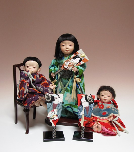 Three dolls by Master Fujimura - COURTESY OF THE DETROIT INSTITUTE OF ARTS