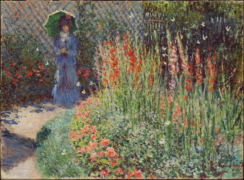 """Rounded Flower Bed (Corbeille de fleurs),"" 1876, Claude Monet, oil on canvas. - DETROIT INSTITUTE OF ARTS"
