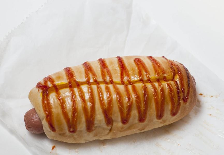 Hot Dog doughnut. - TOM PERKINS