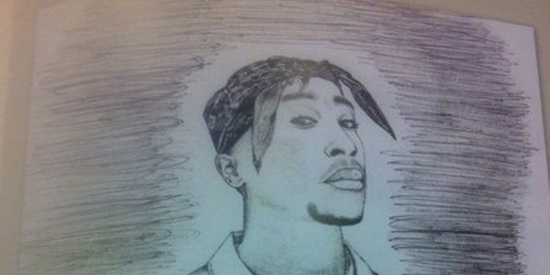 Eminem drew a picture of Tupac and gave it to Tupac's mom | City Slang