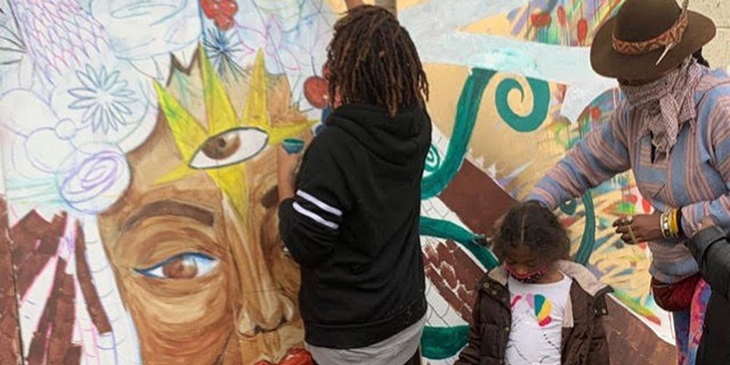 Artist Dana Selah Elam honored with mural (2)