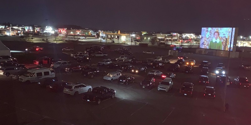 There's a new Christmas movie drive-in theater posted up at Lakeside Mall
