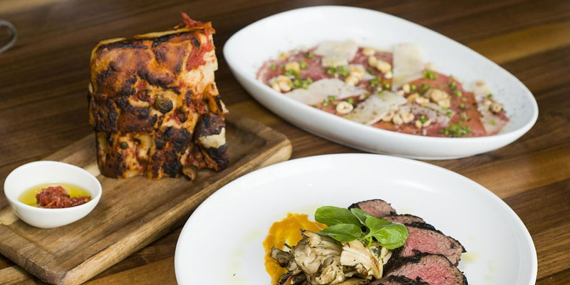 Dishes from SheWolf Pastificio & Bar.