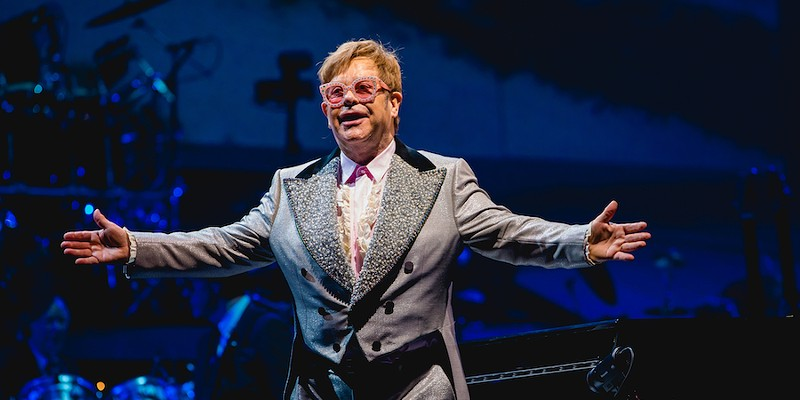 Elton John performs live at Van Andel Arena on the Farewell Yellow Brick Road Tour, Oct. 2018.