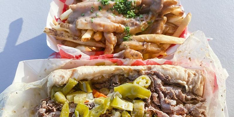 Italian Beef sandwich and beef gravy fries.