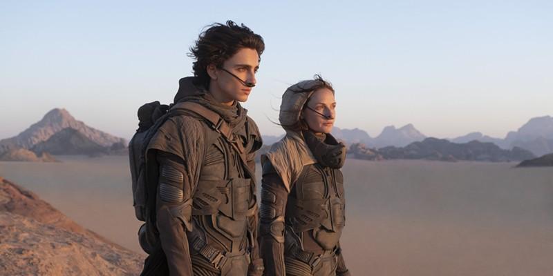 Timothée Chalamet and Rebecca Ferguson in Denis Villeneuve's remake of Dune.