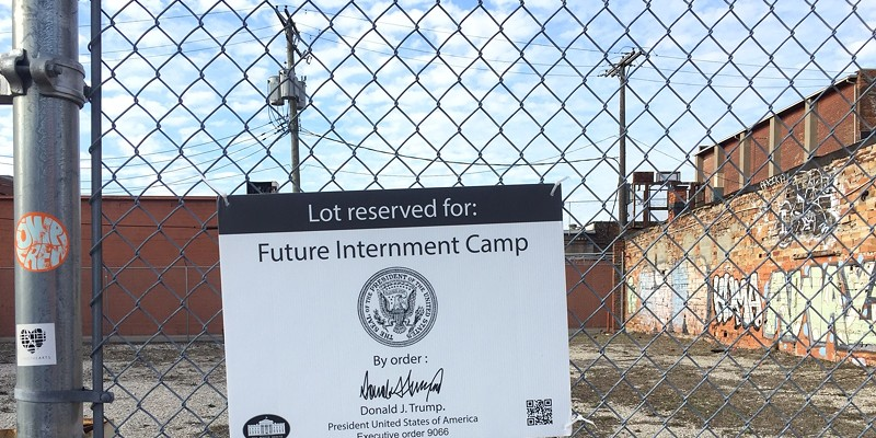 """Trump's America: Eastern Market plot """"reserved for future internment camp"""""""