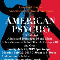 American Psycho: The Musical casting call