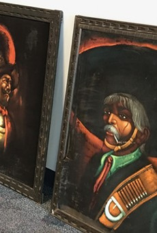 Black velvet paintings to be displayed at the Latino Cultural Center.
