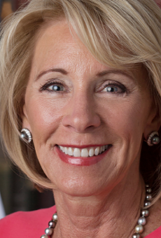 Grand Rapids bookstore demands Betsy DeVos' resignation via window display
