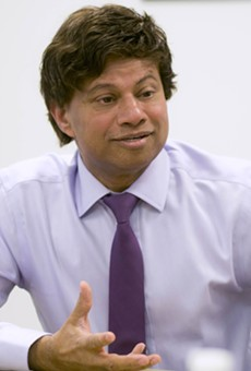 Shri Thanedar at Metro Times' office.