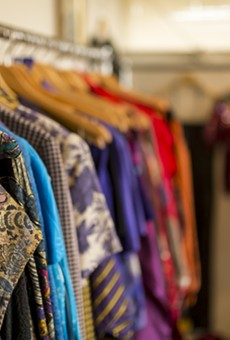 Racks of vintage at the Lowery Estate in Farmington, one of the vintage sellers to be featured at this weekend's Ferndale Vintage Fashion Market.