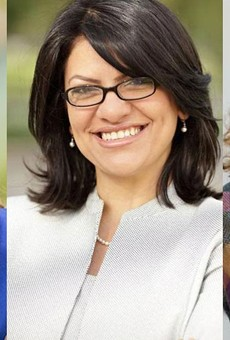 From left: Elissa Slotkin, Rashida Tlaib, and Ellen Cogen Lipton.