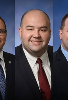 (From left) Michigan House Reps. McCready, Tedder, Webber, Yaroch, and Lucido.