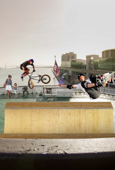 Artist's rendering of what it will look like when there is a halfpipe on the Detroit Princess.