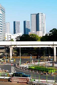 The Shiodome district in Tokyo.