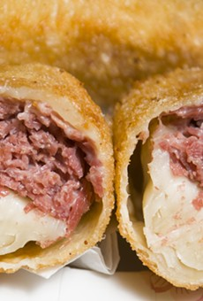Egg rolls from Asian Corned Beef.