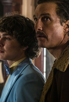 Richie Merritt and Matthew McConaughey play Richard Wershe Jr. and Sr. in White Boy Rick.