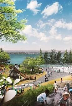 Proposed design for West Riverfront Park.