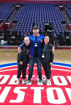 Claude VonStroke, real name Barclay Crenshaw, pictured with family at Little Caesar's Arena